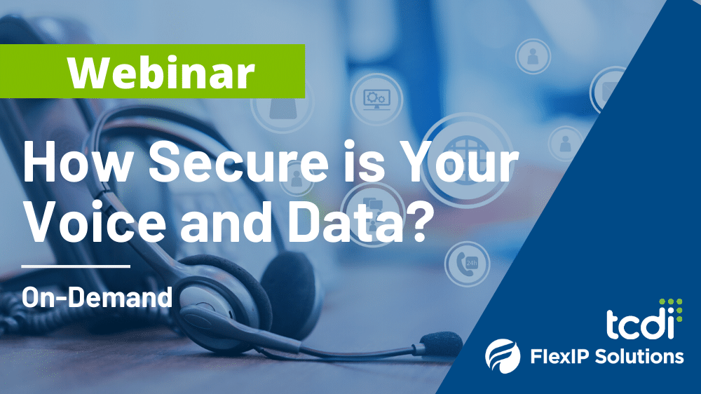 Webinar On-Demand: How Secure is Your Voice and Data?