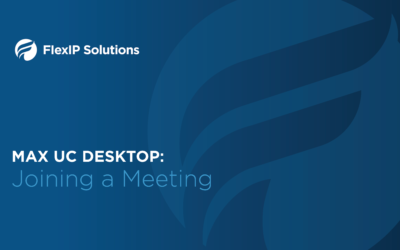 MaX UC Desktop: Joining a meeting