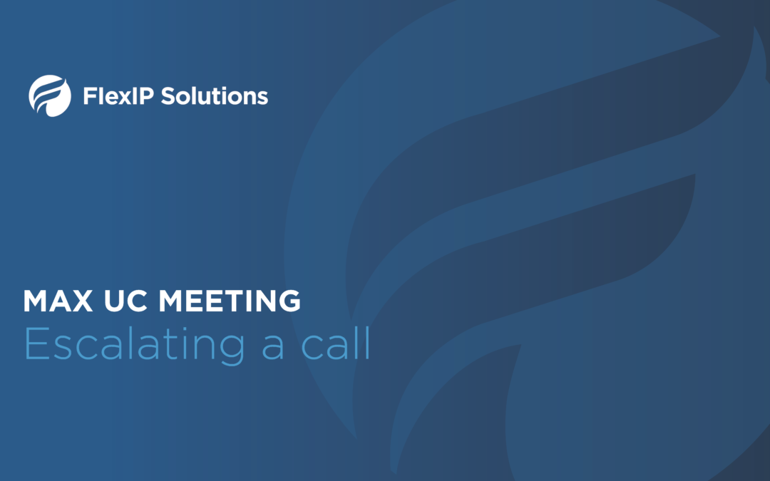 MaX UC Meeting: Escalation Tutorial