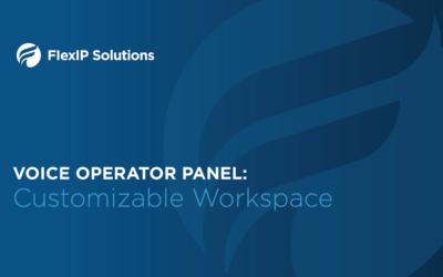Voice Operator Panel: Customizable Space