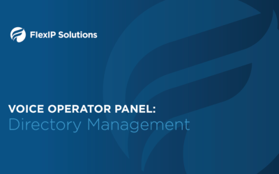 Voice Operator Panel: Directory Management