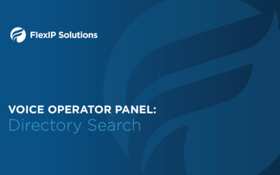 Voice Operator Panel: Directory Search