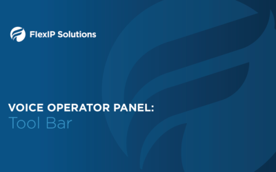 Voice Operator Panel: Tool Bar