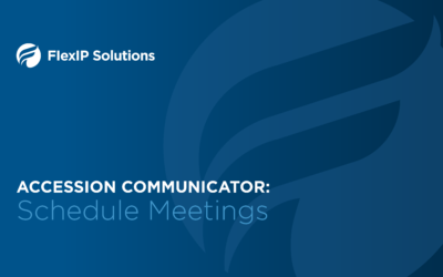 Accession Meeting Scheduling and Security Settings